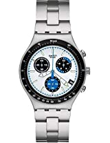 Swatch Irony YCS461GE White Round Dial Chronograph Watch - For Men
