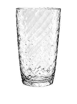 Textured Acrylic Large Highball Glass, Clear