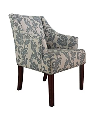 Armen Living Fabric Accent Chair, Ikat Slate