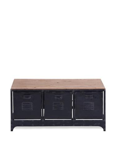 Industrial Chic Vintage-Style Storage Bench