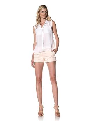 Central Park West Women's Sleeveless Blouse (White)