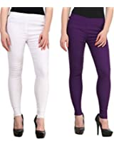 Krystle Pack of 2 white and purple tummy tucker