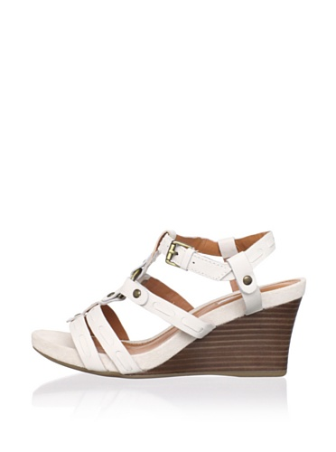 Geox Women's Iride Wedge Sandal (White)