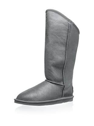 Australia Luxe Collective Women's Cozy Tall Vintage Metallic Boot (Gunmetal)