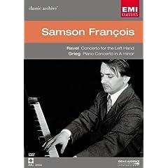 輸入盤DVD サンソン・フランソワ演奏 ラヴェル:左手のためのピアノ協奏曲 ト短調、グリーグ:ピアノ協奏曲のAmazonの商品頁を開く