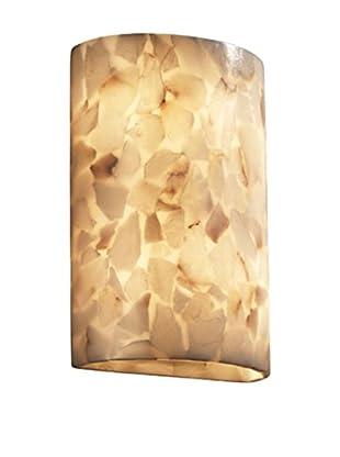 Justice Design Group Alabaster Rocks!™ Large Cylinder Wall Sconce
