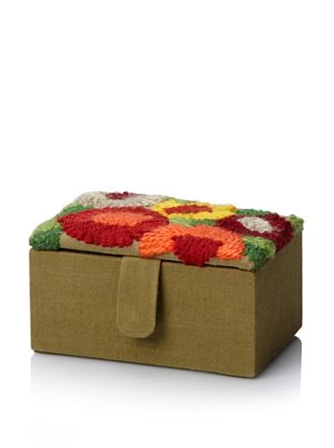 Purva Woolen Bliss Trinket Box, Tan Ombre