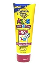 Banana Boat 8 oz. Kids SPF#50 Tear Free Sunblock (3-Pack) with Free Nail File