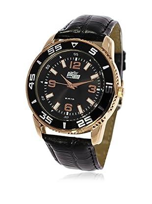 Pit Lane Uhr mit Miyota Uhrwerk Pl-3001-3 schwarz 40 mm