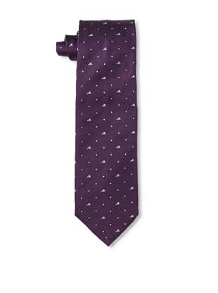 Moschino Men's Mini Block Tie, Purple