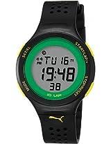 Puma Puma Faas 200 Digital Dial Black Silicone Unisex Watch Pu910931001 - Pu910931001