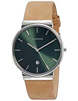 Skagen Ancher Analog Green Dial Men's Watch - SKW6183I