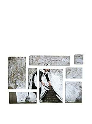 Banksy Maid In London 8-Piece Giclée On Canvas