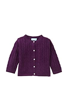 Bambeeno Girl's Cozy Cable Cardigan (Purple)