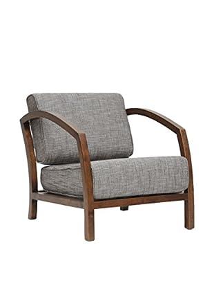 Baxton Studio Velda Accent Chair, Brown
