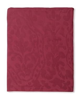 Edmond Frette Procida Jacquard Top Sheet (Red Lipstick)