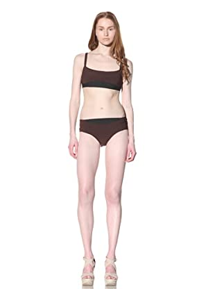 MARNI Women's Bikini with Contrast Trim (Dark Chocolate)
