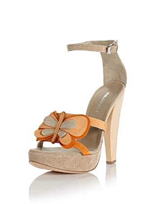 Philosophy di Alberta Ferretti Women's Butterfly Heeled Sandal (Sand/Apricot/Orange)