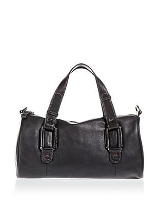Borella Leder Bowling-Bag (Schwarz)