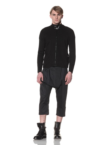 Saxony Men's Covert Knit Jacket (Black)
