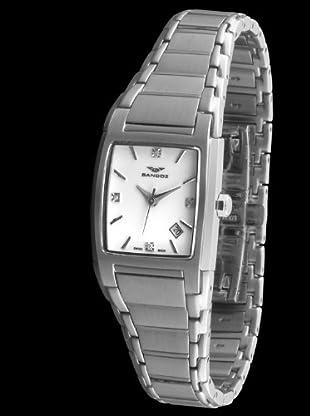 Sandoz 81238-03 - Reloj St. Thomas con diamantes dial blanco