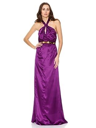 Mango Vestido Fal Abril-A (Púrpura)