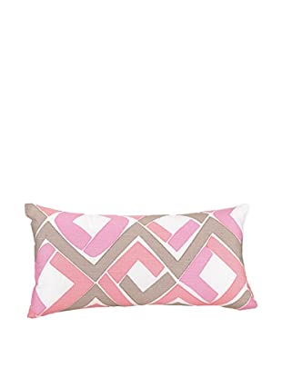 Trellis Decorative Pillow, Pink/Brown