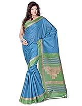 Cenizas Cotton Silk Saree (3303 Blue)