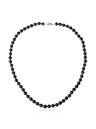 Radiance Pearl 6.5-7.0mm Black Akoya Cultured Pearl Necklace