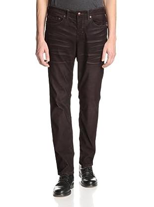 Stitch's Men's Barfly Slim Straight Corduroy Pant (Red Black)