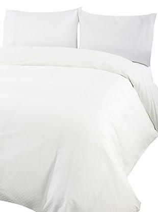 Coyuchi Check Damask Duvet Cover (White)