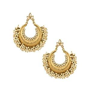 Voylla Gold Plating Pearl Beads Earrings