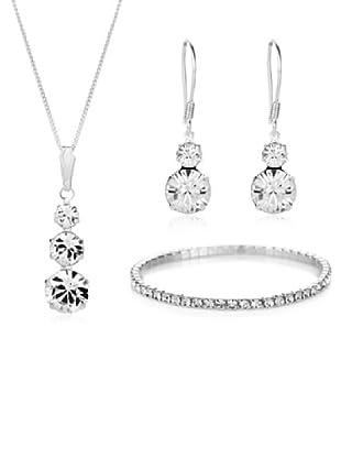 Diamond Style Set Halskette, Armband und Ohrringe