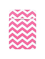 TopCase Chevron Series Pink Sleeve Bag Cover for All 15 15-inch Laptop Notebook / Macbook Pro with or without Retina Display - with TopCase Chevron Mouse Pad