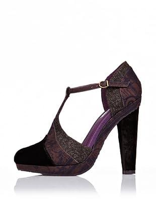 Desigual Zapatos de Tacón (Marrón)