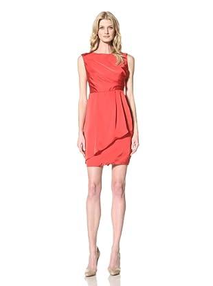 Vince Camuto Dresses Women's Sleeveless Draped Dress (Chinese Red)