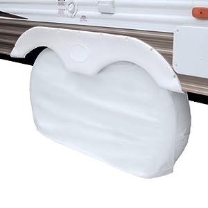 Classic Accessories 80-109-022801-00 OverDrive RV Dual Axle Wheel Cover, White