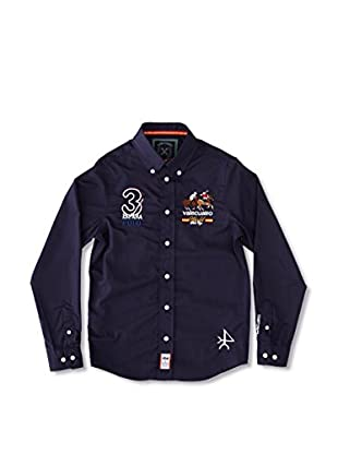Valecuatro Camisa Junior Caballos (Azul Marino)