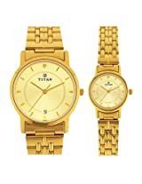 Titan Bandhan Analog Silver Dial Pair Watch - NC617917YM04