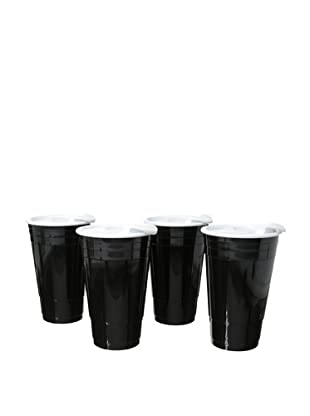 AdNArt Set of 4 Fun Party Cup (Black)