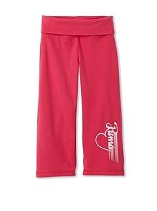 PUMA Girl's 2-6x Heart Yoga Pants (Pink)