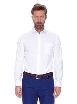 Cortefiel Camisa Cuello Combinado Rayas (Blanco)
