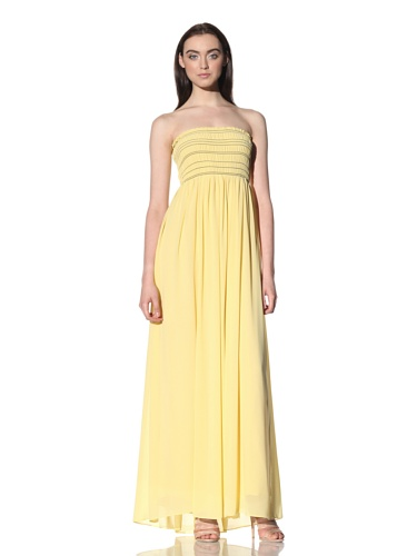Robbi & Nikki Women's Smocked Maxi Dress (Maize)