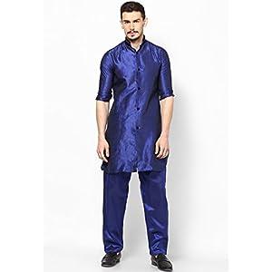 Blue Pathani Kurta Set