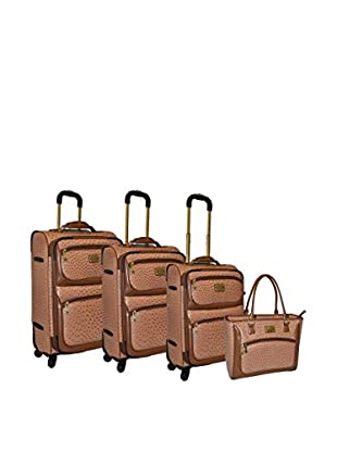 Adrienne Vittadini Croco 4-Pc Luggage Set, Natural