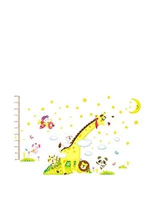 LO+DEMODA Wandtattoo Happy Meter Mini Zoo