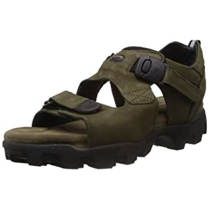 Woodland Men's Green Nubuck Leather Sandals and Floaters - 10 UK/India (44 EU)
