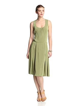 Melissa Masse Women's Sleeveless Fit-and-Flare Dress (Citrus Luxe)