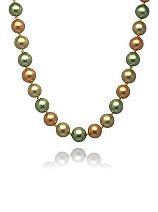 Perldor 60650002 - Collar de mujer de plata de ley con perla natural Bronce/Verde 48 cm