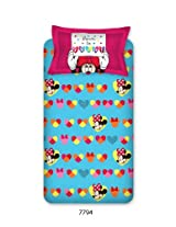 Bombay Dyeing Disney Classic Single Bedsheet with 1 Pillow Cover - Blue and Pink